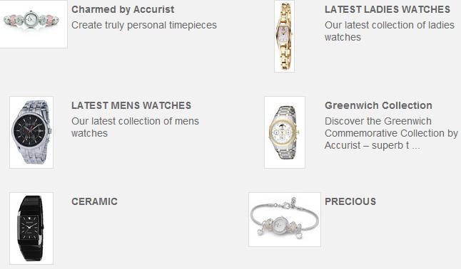 Collections de montres précises